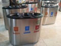 广西南宁商场采购三分类不锈钢垃圾桶