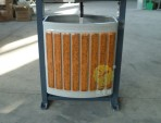 防盗小型分类钢木垃圾桶