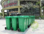花园塑料垃圾桶