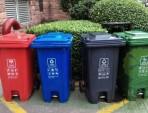 脚踏式塑料分类垃圾桶
