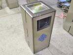 电梯口方形不锈钢垃圾桶