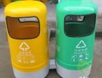户外环卫玻璃钢分类垃圾桶
