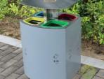 喷塑不锈钢四分类垃圾桶