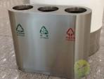 机场室内三分类不锈钢垃圾桶