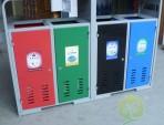 物业小区户外四分类钢制垃圾箱