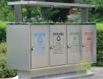 地铁口户外四分类不锈钢垃圾箱