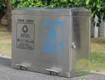 学校脚踏式不锈钢分类垃圾箱