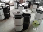 六边形户外钢制分类垃圾桶