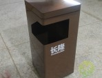 景区电镀方形不锈钢垃圾桶