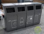 户外组合式镂空不锈钢分类垃圾桶