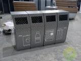宝安市政项目镂空不锈钢分类垃圾桶案例