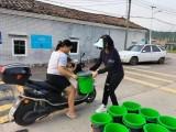 广州增城派潭镇为村民更换分类垃圾桶