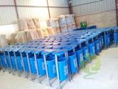 玻璃钢单桶果皮箱图片