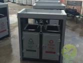 市政仿大理石玻璃钢垃圾桶