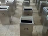 商场不锈钢垃圾桶图片