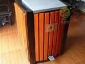 小型室内脚踏式钢木果皮箱