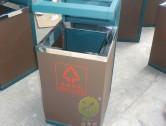 高档酒店方形钢制垃圾桶