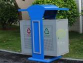 钣金冲孔户外分类钢制垃圾桶