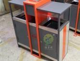 物业小区户外分类钢制垃圾箱
