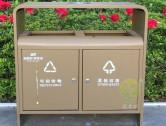 标准户外街道分类钢制垃圾箱