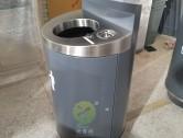 市政道路圆柱形垃圾回收桶