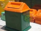 玻璃钢物业环保垃圾桶图