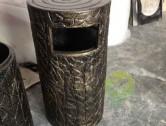 玻璃钢仿铜垃圾桶图片