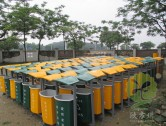 景区玻璃钢分类垃圾箱图片