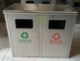 物业小区双桶不锈钢垃圾箱