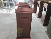 物业电梯口方形不锈钢果皮箱