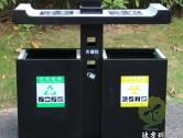 室外喷塑冷轧钢板分类垃圾箱