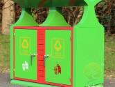 园林冷轧钢板分类垃圾箱