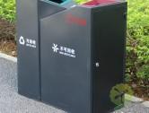 天虹商场两分类钢制垃圾桶