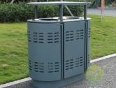 户外镂空两分类钢制垃圾桶