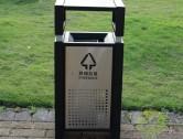 方形组合式钢板分类垃圾桶