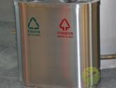 机场直投口不锈钢分类垃圾桶