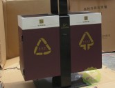 室外物业社区两分类钢制垃圾箱