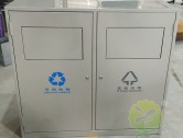 带盖环保钢制分类垃圾箱