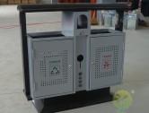 室外烤漆冲孔钢板分类垃圾桶
