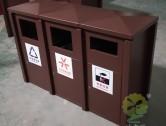 户外大型喷塑三分类钢板垃圾箱