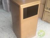 室内方形蚀刻土豪金不锈钢垃圾桶