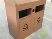 户外电镀不锈钢分类垃圾桶