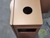 室内电镀不锈钢环保果皮箱