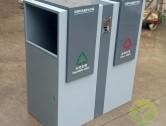 户外方形分类钢制垃圾桶