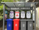 户外小区四分类垃圾亭