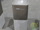 室内电梯口摇盖式不锈钢垃圾桶