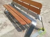 室外带靠背不锈钢休闲椅