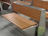 户外园林不锈钢等候椅