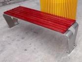 户外公园长条形不锈钢休闲椅