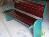 户外带靠背喷塑冷轧钢园林椅
